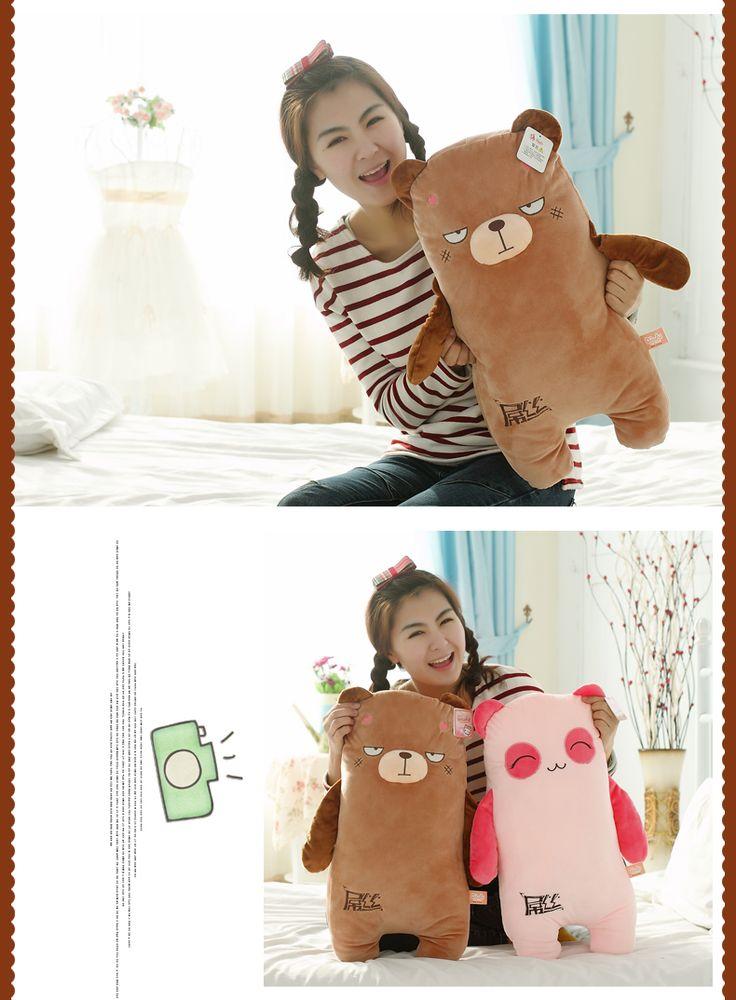 Размер 45 см симпатичные большое лицо плюшевые панда плюшевый мишка игрушки подарок на день рождения подушки каваи плюшевые игрушки купить на AliExpress