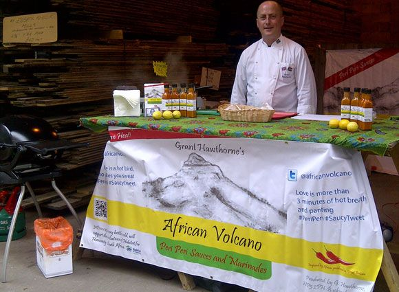 Grant Hawthorne and African Volcano attend events