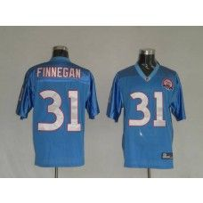Titans #31 Cortland Finnegan Stitched Baby Blue With AFL 50th Anniversary NFL Jersey