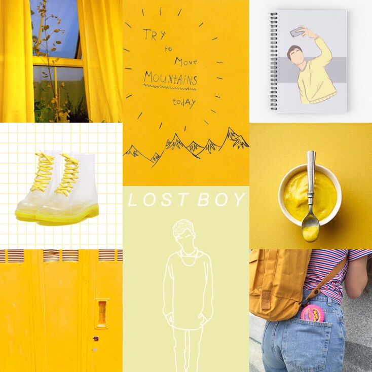 Yellow Aesthetic Collage Collage Yellow