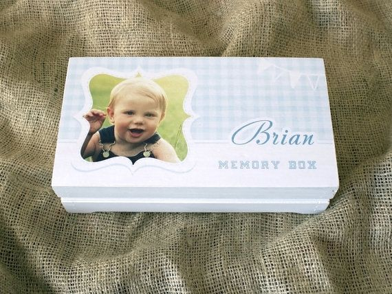Baby memory box Baby keepsake box by YouCanMAKEitPERSONAL on Etsy