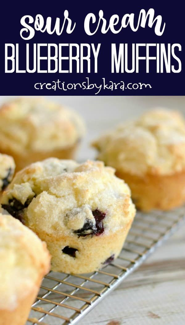 Sour Cream Blueberry Muffins In 2020 Sour Cream Blueberry Muffins Sour Cream Muffins Scones Recipe Uk