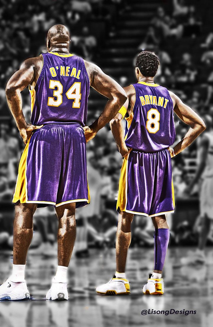 Shaq and Kobe by lisong24kobe on deviantART