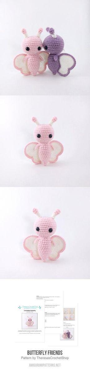 Butterfly Friends amigurumi pattern