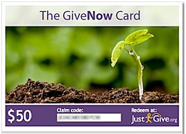givenow.com offers charity gift cards. Recipients can choose an organization near and dear to their heart.