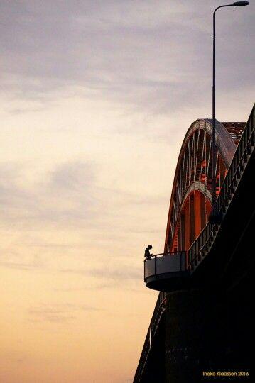 Waalbrug in Nijmegen, Gelderland