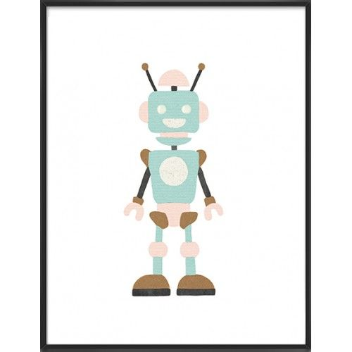 Hand drawn nursery robot, 22