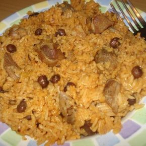 This recipe is delicious. It was given to me by my dear friend Anna's mother. They are from Ponce, Puerto Rico. It is the national dish of Puerto Rico. Arroz con Gandules. I love Puerto Rican food and over the years have acquired many recipes from dear friends from Puerto Rico. If you get a chance try it. I assure you it is wonderful. Served with a salad and perhaps some Fried plantains or tostones it is a complete meal as it has the meat already in it. You can find my recipes for fried ...