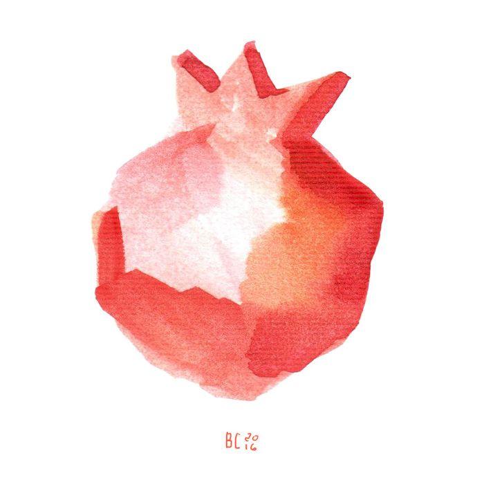 Посмотреть иллюстрацию Vera Solomonova - Гранат.