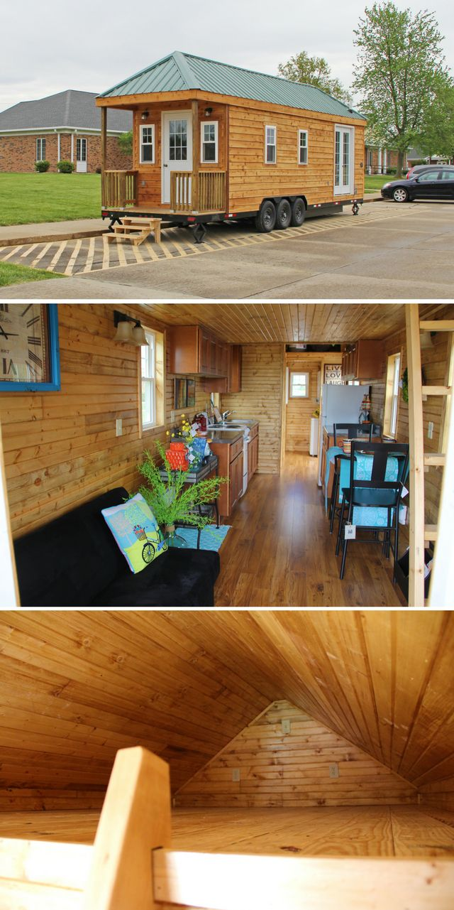 A 256 sq ft tiny house built by students at Frontier Community College