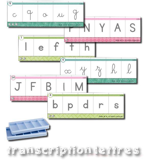 Boites à compter - transcription de lettres