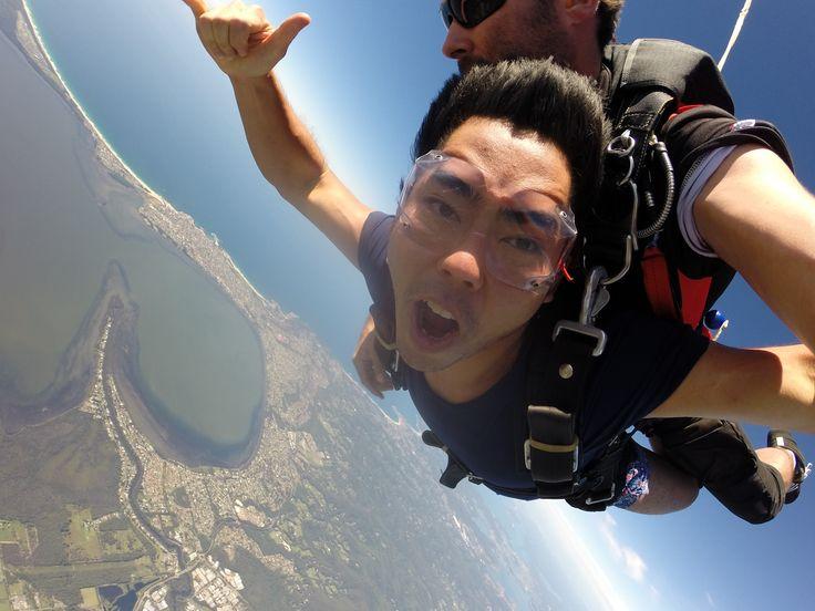 Hanging ten over Sydney! #SkydiveAustralia #tandemskydiving #skydive #adrenalinerush #bucketlist