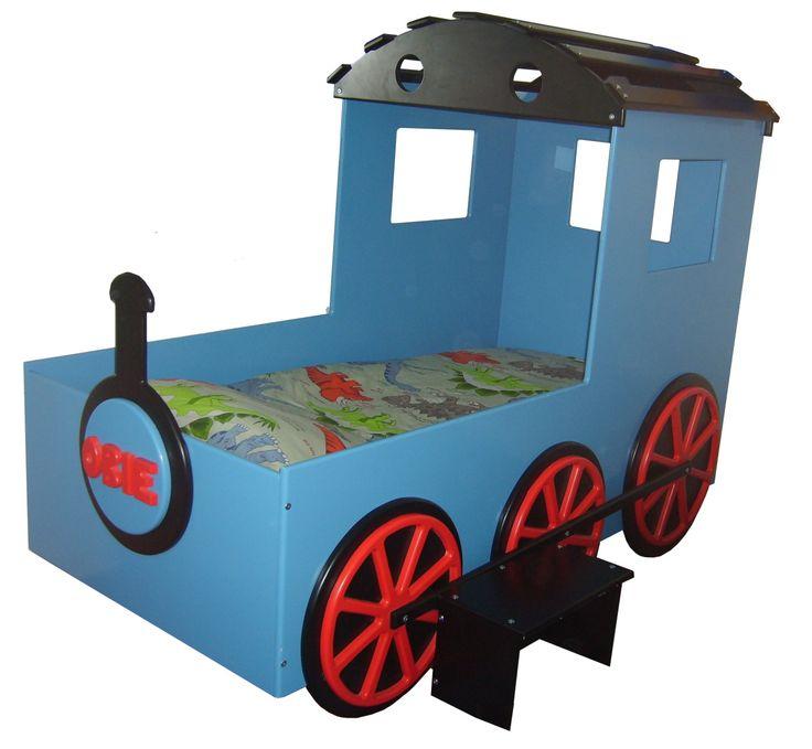 toddler train bed kids train blue boys bed kids themed Toddler Boys Room Ideas Pinterest Toddler Girl Room Pinterest