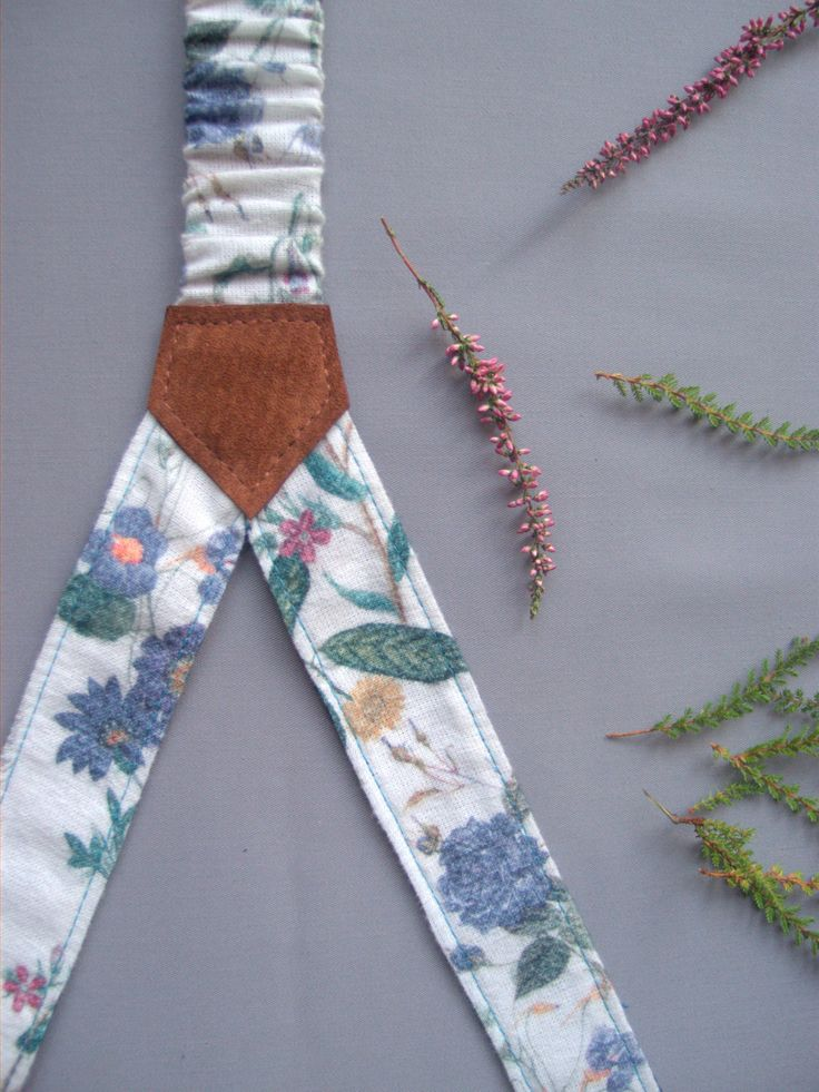 Womens Suspenders Women Braces Two Sided Adjustable Women Suspender Floral and Denim Suspenders Gift for Her Unique Gift by baboshkaa on Etsy