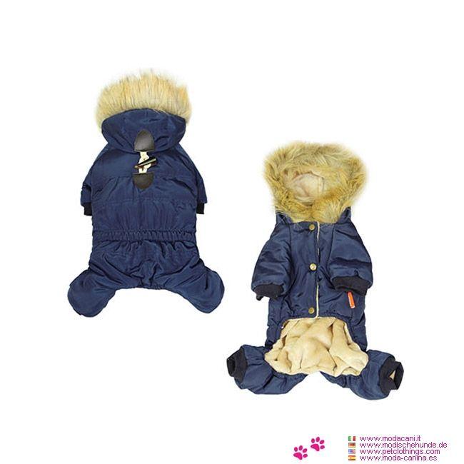 Gepolsterte Anzug für kleine Hunde in Blau - Gepolsterte Anzug für kleine Hunde in Blau mit kaputze; Erhältlich von S bis XXL, ideal für einen kleinen Hund: Pudel, Yorkshire, Pinscher, Chihuahua