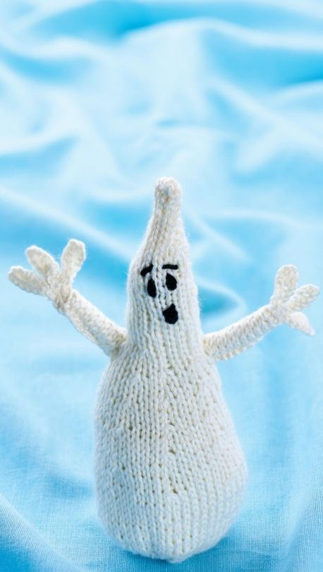 halloween ghost free knitting patterns halloween lets knit magazine - Free Halloween Knitting Patterns