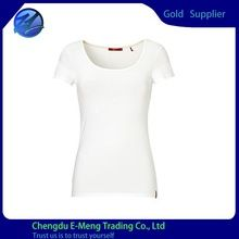 100% Cotton Blank White Short Sleeve Scoop Neck Woman Clothing  best seller follow this link http://shopingayo.space