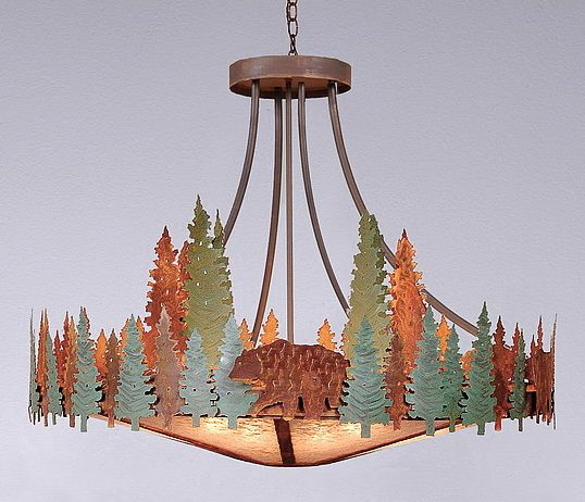 crestline bear xlg chandelier wdownlight