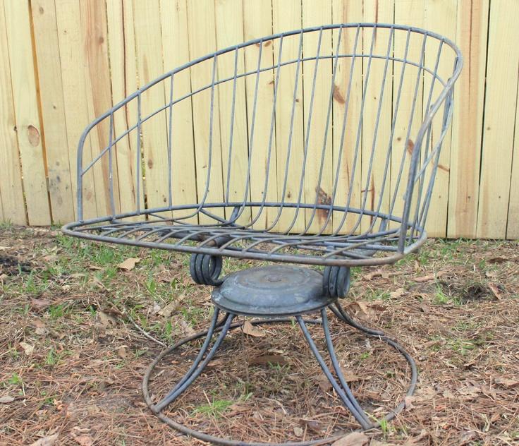 Modern Lawn Chair Outdoor Paitio Furniture Homecrest Wire Mid Century Retro  Garden Decor
