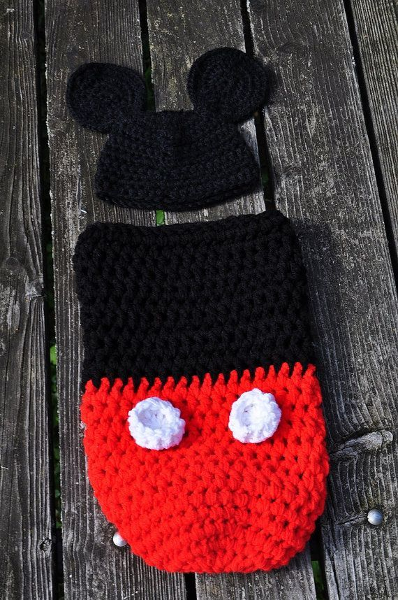 crochet baby boy mickey mouse cocoon pattern - Google Search