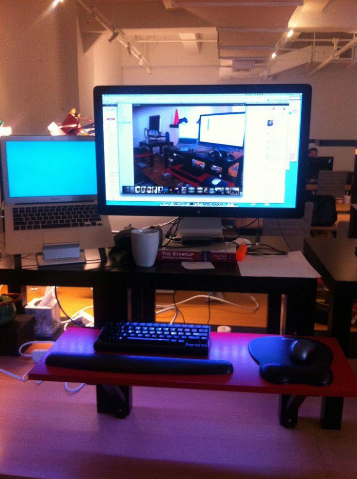 make your own standing desk for $22 dollars | Diy standing ...