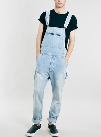 BLEACH WASH DUNGAREES