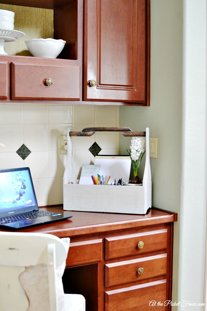 its ok to start small kitchen desk - Small Kitchen Desk Ideas