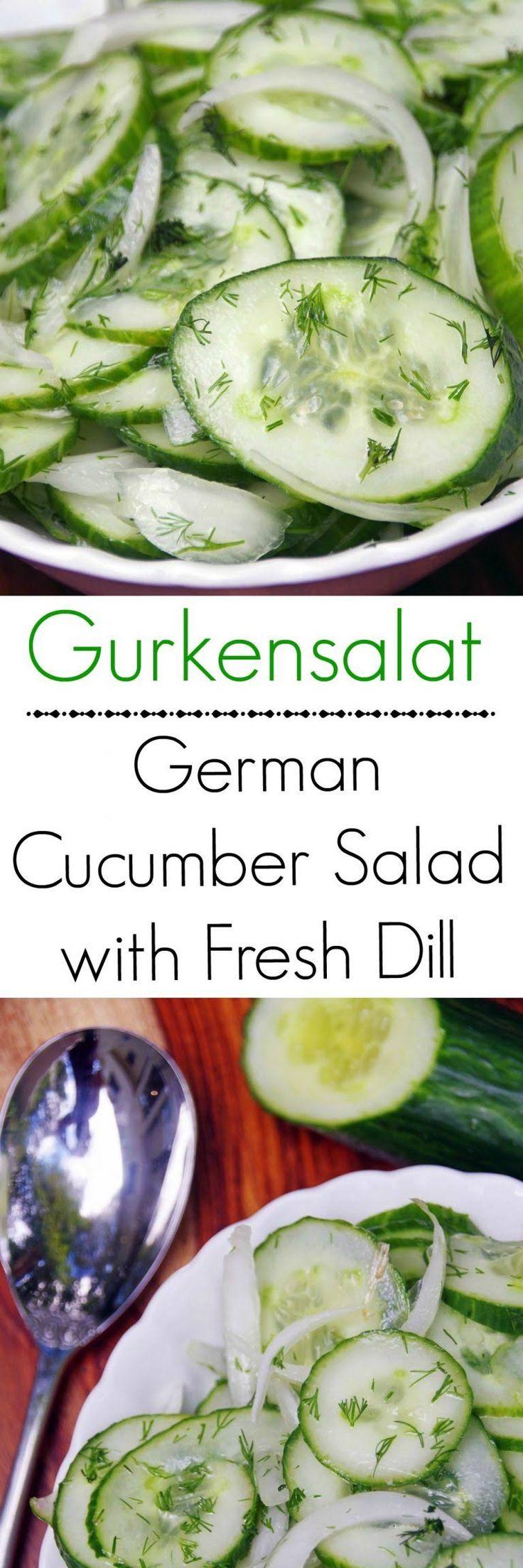 Gurkensalat recipe: A German Cucumber Salad Recipe with Fresh Dill