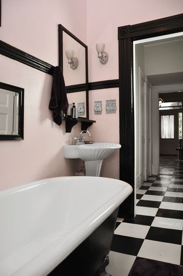 Stylish U0026 Sexy Bathrooms U2014 Roundup. Light Pink WallsBlack White ... Part 98