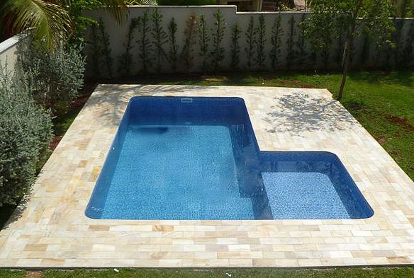 "12x24x20 ""L"" SHAPE POOL KIT WITH TANNING BENCH.  Benefits of a small pool"
