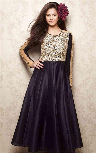 Picture of Flamboyant Black Kids Designer Gown