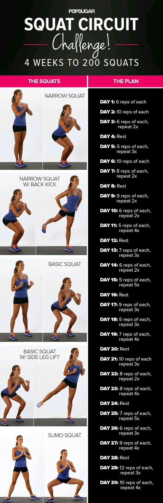 Best squat #exercises for a toned butt and thighs.