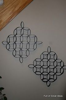 Toilet paper roll wall art- just need spray paint (and primer) and glue