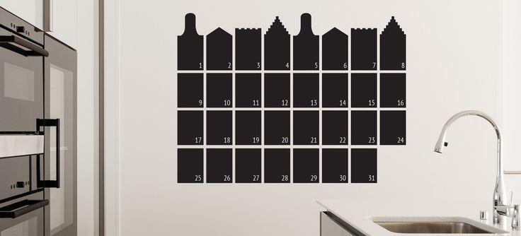 kalender muursticker