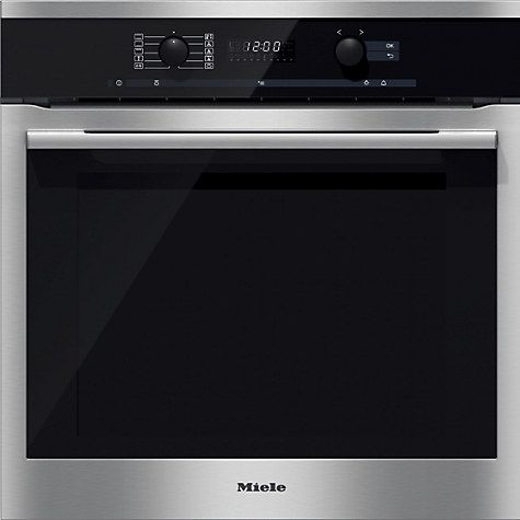 Buy Miele H6160B ContourLine Single Electric Oven, Clean Steel Online at johnlewis.com