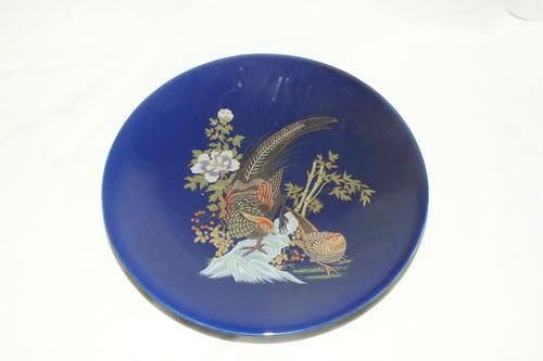 Oriental Porcelain - Vintage Blue Chinese Plate with Male and Female Pheasants for sale in Nelspruit (ID:193471076)