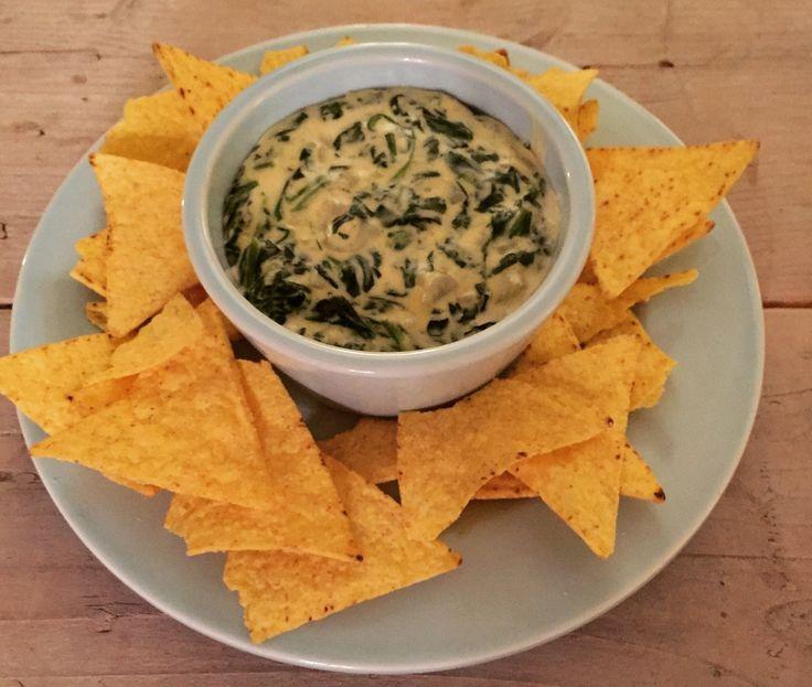 Artisjok dip met spinazie en kaas