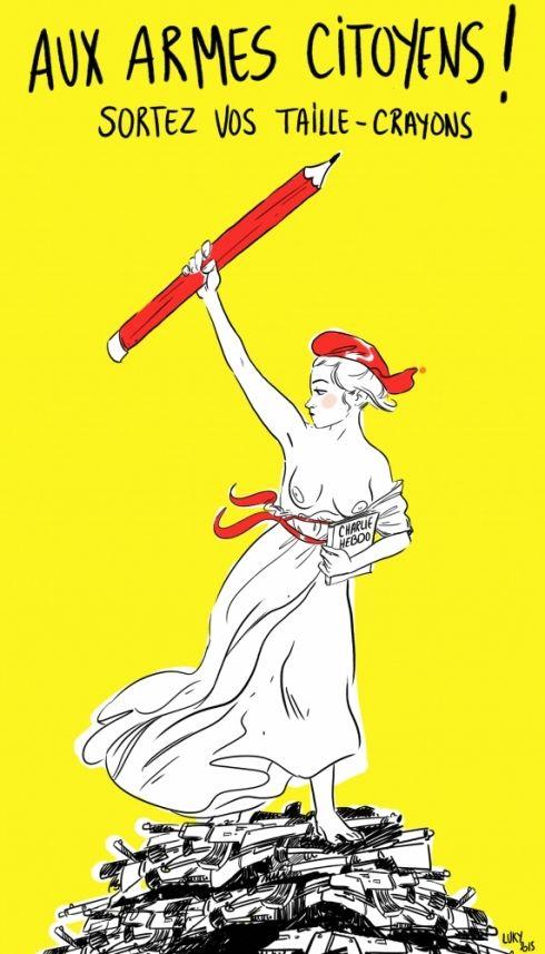 Les dessinateurs béarnais rendent hommage aux victimes de Charlie Hebdo - LaRepubliquedesPyrenees.fr