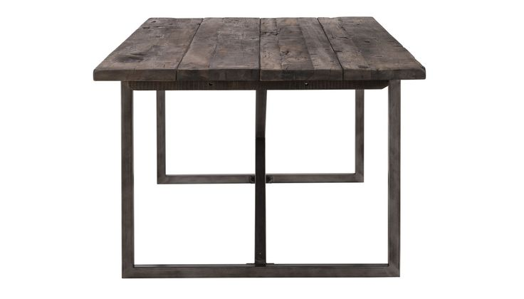 The Axel dining table combines old world and industrial with its combination of reclaimed wood from decommissioned Chinese fishing junks and hand-treated metal detailing. After decades of exposure to the high seas and elements, the reclaimed boat wood from the hulls, decking, and beams of the Chinese boats reflects uniquely weathered coloration's and textures, making each dining table unique.