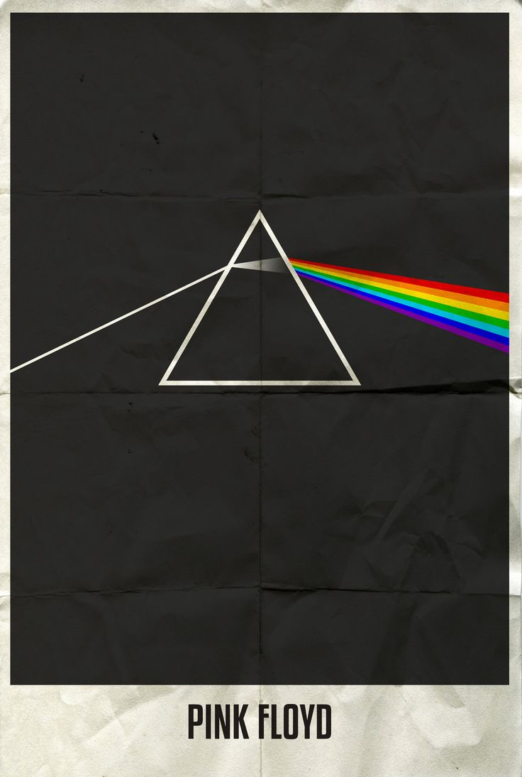 Rock band minimalist poster - Pink Floyd