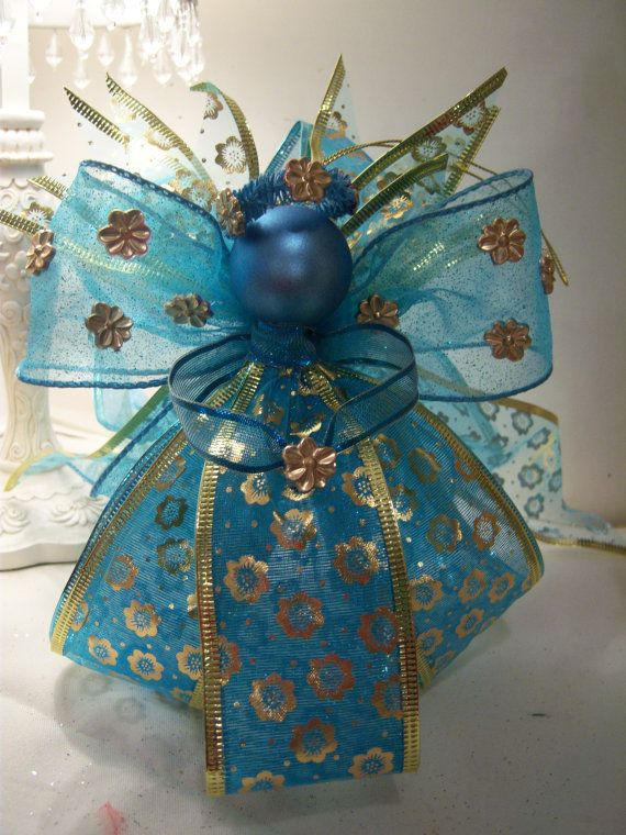 Teal Flower Guardian Angel Doll
