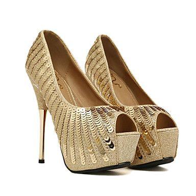 calcanhar sapatos plataforma stiletto das mulheres bombas de sapatos de correspondência saco de noite – BRL R$ 205,17