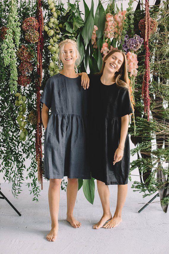 kleid naehen inspiration alltagskleid sommer kleider leinenkleid