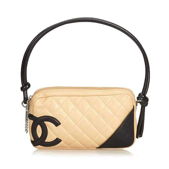 Chanel Cambon Brown Leather Handbag Mini Shoulder Bag Bags