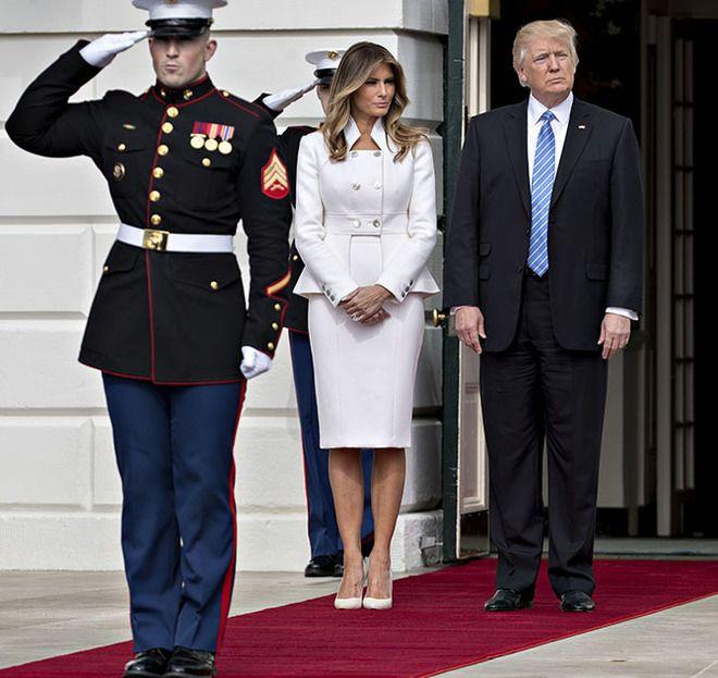 Меланья Трамп и Дональд Трамп