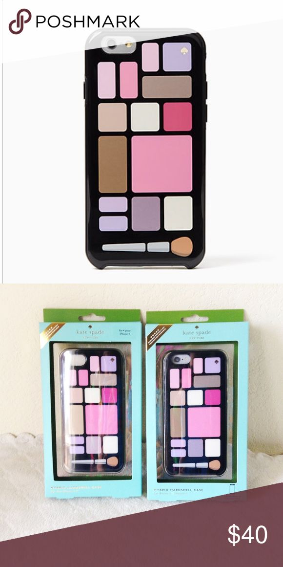 Kate Spade makeup palette iPhone case NWT  authentic  • new with tags • perfect for the makeup lover!  • hardshell protective case • available in iPhone 6/6s & iPhone 7 - select when buying ❌ no trades  ❣️ offers welcome! kate spade Accessories Phone Cases