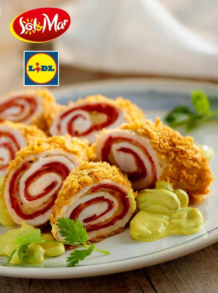 Cordon bleu po hiszpańsku z sałatką. Kuchnia Lidla - Lidl Polska. #lidl #solandmar #cordonbleu