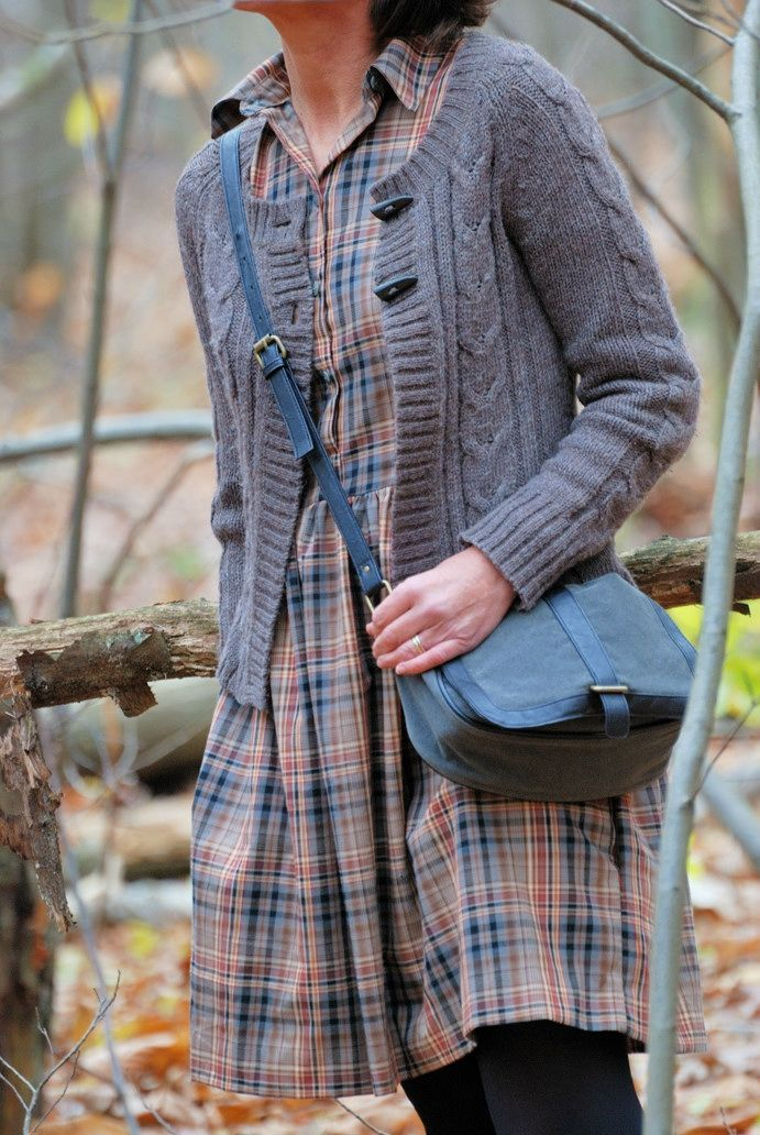 Plaid dresses and knit sweaters