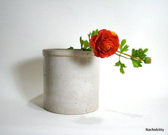 1910s Gallon Stoneware Crock Macomb Illinois Buckeye by Nachokitty, $38.00