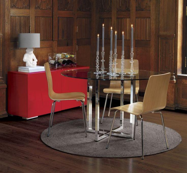 Cb Silverado Dining Table Loris Decoration - Cb2 round glass table